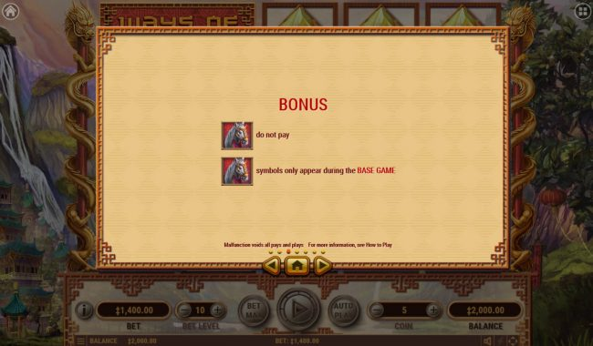 Oshi featuring the Video Slots Ways of Fortune with a maximum payout of $25,000