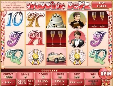 Play slots at Triple Aces: Triple Aces featuring the Video Slots Wedding Dayz with a maximum payout of $30,000