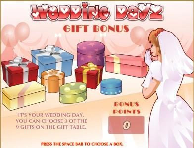 Wild Jackpots featuring the Video Slots Wedding Dayz with a maximum payout of $30,000