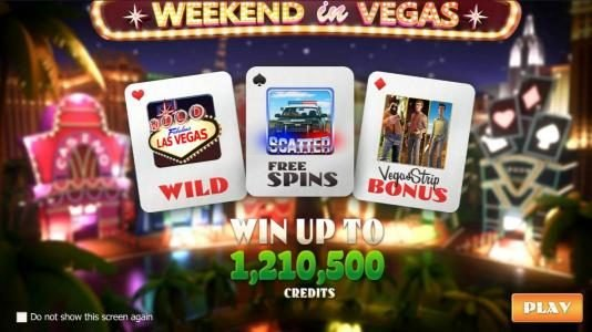 Play slots at Neder: Neder featuring the Video Slots Weekend in Vegas with a maximum payout of $1,210,500