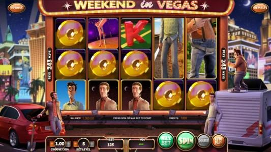 123 Vegas Win featuring the Video Slots Weekend in Vegas with a maximum payout of $1,210,500