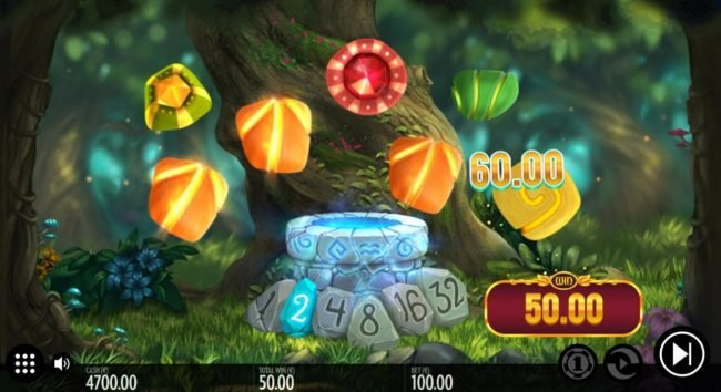 Well of Wonders :: A 2nd cascade win triggers a 60.00 payout and increases the multiplier.