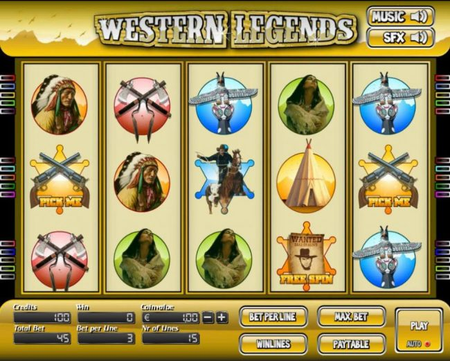 Elegant VIP featuring the Video Slots Western Legends with a maximum payout of $6,000