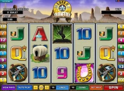 Wixstars featuring the Video Slots Western Frontier with a maximum payout of $7,500
