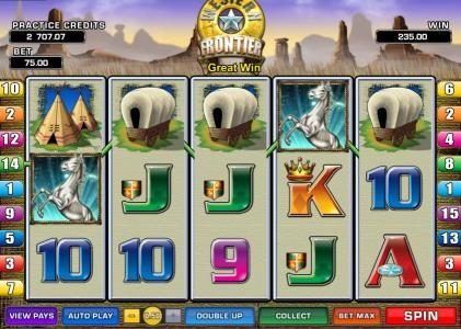 House of Jack featuring the Video Slots Western Frontier with a maximum payout of $7,500