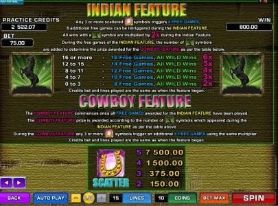 Yeti Casino featuring the Video Slots Western Frontier with a maximum payout of $7,500