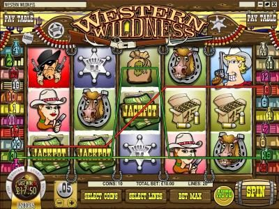 Dendera featuring the Video Slots Western Wildness with a maximum payout of $5,000