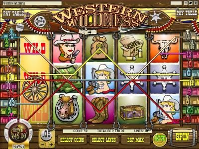 Golden Lion featuring the Video Slots Western Wildness with a maximum payout of $5,000