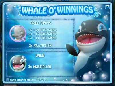 Play slots at DaVincis Gold: DaVincis Gold featuring the Video Slots Whale O' Winnings with a maximum payout of $19,442