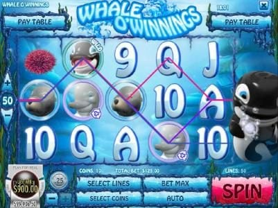 21 Dukes featuring the Video Slots Whale O' Winnings with a maximum payout of $19,442