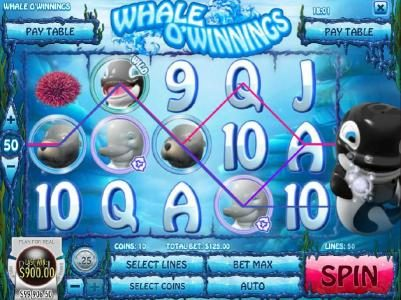 Crazy Luck featuring the Video Slots Whale O' Winnings with a maximum payout of $19,442