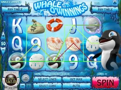 Ruby Royal featuring the Video Slots Whale O' Winnings with a maximum payout of $19,442