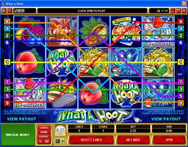 Captain Cooks featuring the Video Slots What a Hoot with a maximum payout of $25,000