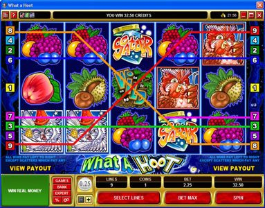Play slots at Lucky Emperor: Lucky Emperor featuring the Video Slots What a Hoot with a maximum payout of $25,000