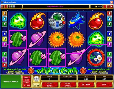 Mongoose Casino featuring the Video Slots What on Earth with a maximum payout of $37,500