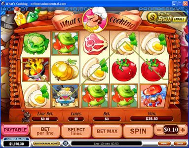 Omni featuring the video-Slots What's Cooking with a maximum payout of Jackpot