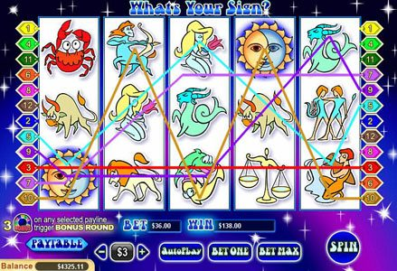 Red Stag featuring the Video Slots What's Your Sign with a maximum payout of $100,000