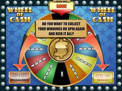 Superior featuring the Video Slots Wheel of Cash with a maximum payout of $12,500