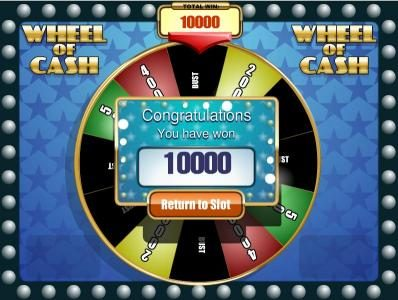 Rich featuring the Video Slots Wheel of Cash with a maximum payout of $12,500