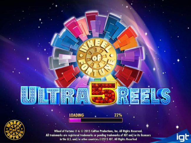 Play slots at Jackpot Joy: Jackpot Joy featuring the Video Slots Wheel of Fortune Ultra 5 Reels with a maximum payout of $250,000