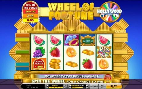 Reel Vegas featuring the Video Slots Wheel of Fortune Hollywood Edition with a maximum payout of $250,000