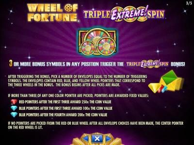 Wicked Jackpots featuring the Video Slots Wheel of Fortune Triple Extreme Spin with a maximum payout of $250,000