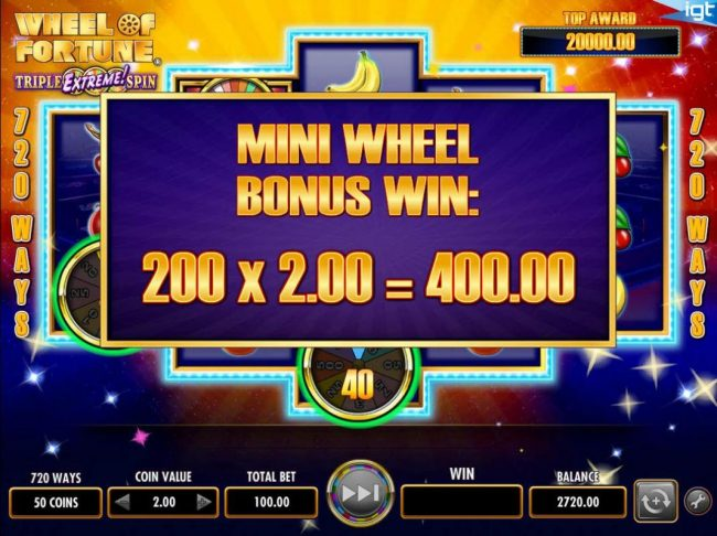 888 Casino featuring the Video Slots Wheel of Fortune Triple Extreme Spin with a maximum payout of $250,000