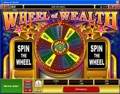 Lucky 247 featuring the Video Slots Wheel of Wealth with a maximum payout of $15,000