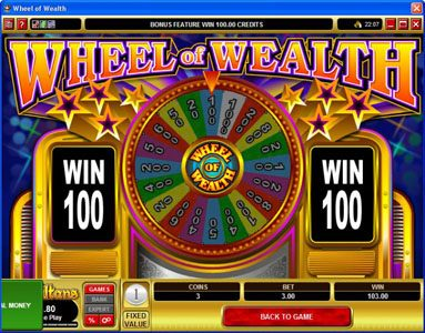 Rizk featuring the Video Slots Wheel of Wealth with a maximum payout of $15,000