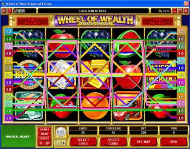 Energy featuring the Video Slots Wheel of Wealth Special Edition with a maximum payout of $50,000