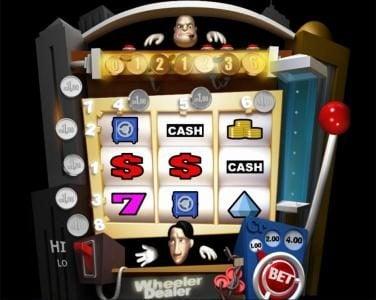 Winaday featuring the Video Slots Wheeler Dealer with a maximum payout of $4,000