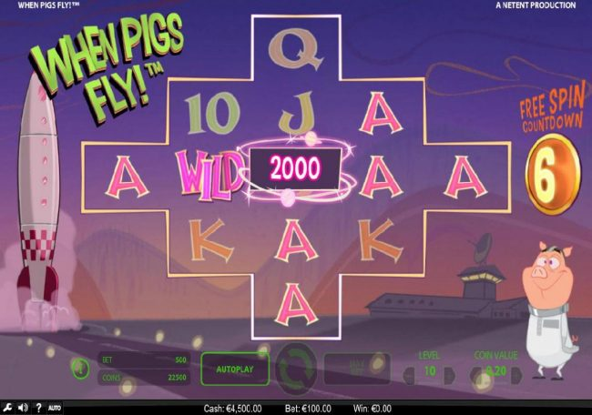 Yeti Casino featuring the Video Slots When Pigs Fly with a maximum payout of $240,000
