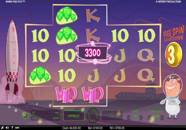 Reel Vegas featuring the Video Slots When Pigs Fly with a maximum payout of $240,000