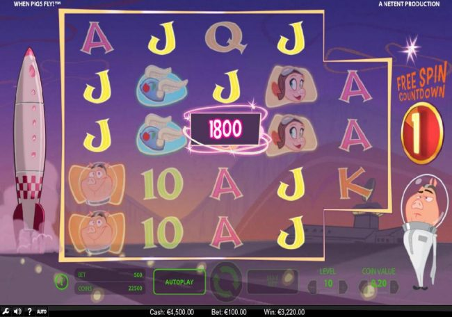 Maxino featuring the Video Slots When Pigs Fly with a maximum payout of $240,000