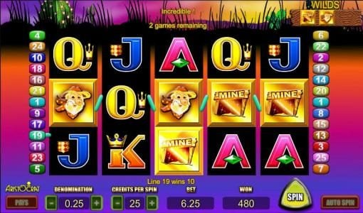 Slots Cafe featuring the Video Slots Where's The Gold with a maximum payout of $4,000