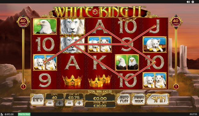 Casino Plex featuring the Video Slots White King II with a maximum payout of $200,000