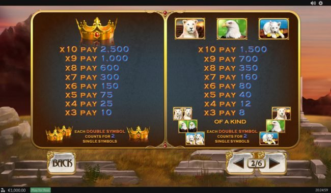 Play slots at Casino.com: Casino.com featuring the Video Slots White King II with a maximum payout of $200,000