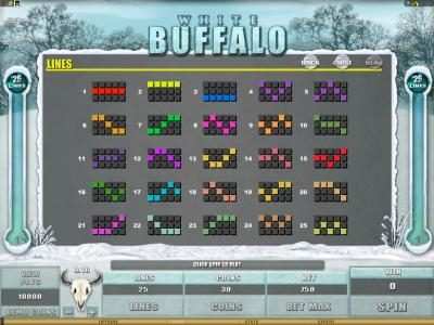 Crazy vegas featuring the Video Slots White Buffalo with a maximum payout of $6,000