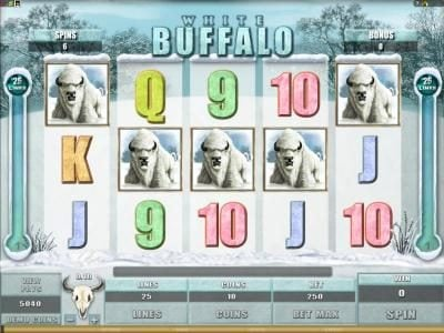 Music Hall featuring the Video Slots White Buffalo with a maximum payout of $6,000