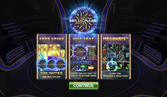 Bet At Casino featuring the Video Slots Who Wants To Be A millionaire Megaways with a maximum payout of $250,000