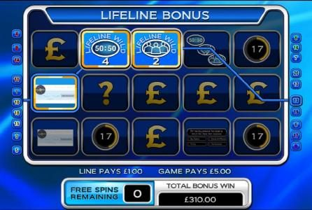 Who Wants To Be A Millionaire :: life bonus feature