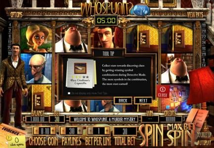 Wager Web featuring the Video Slots Who Spun It? with a maximum payout of $25,000