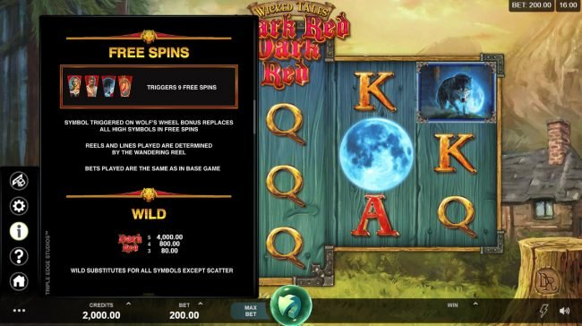 Casino 440 featuring the Video Slots Wicked Tales Dark Red with a maximum payout of $100,000