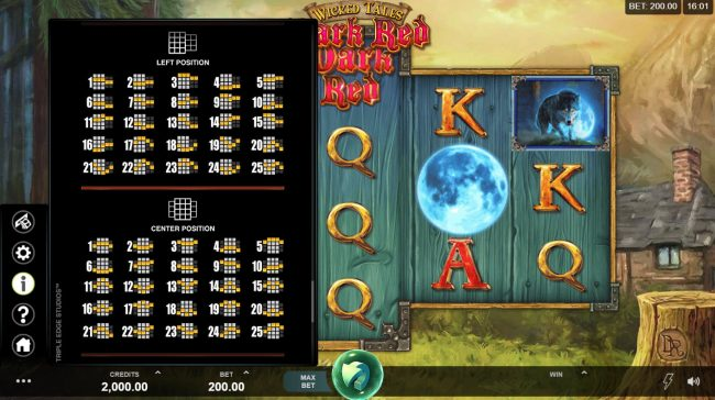 Jackpot City featuring the Video Slots Wicked Tales Dark Red with a maximum payout of $100,000