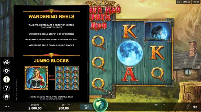 Vegas Winner featuring the Video Slots Wicked Tales Dark Red with a maximum payout of $100,000