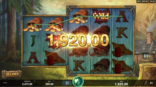 Wicked Tales Dark Red :: Multiple winning paylines triggers a big win