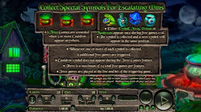 Wicked Witch :: Scatter Symbol Rules
