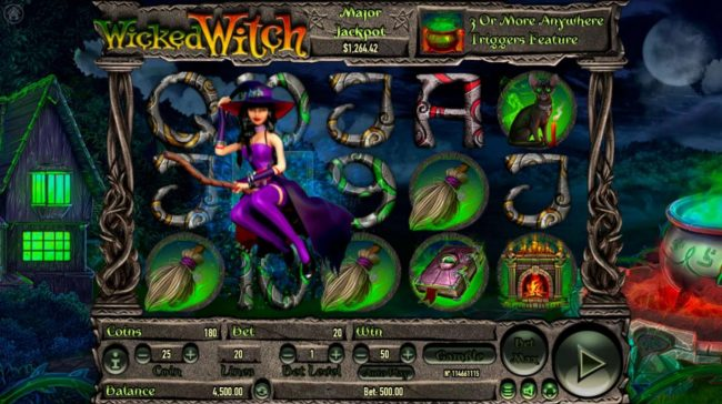Wicked Witch :: Multiple winning paylines
