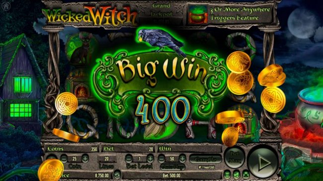 Play slots at Oshi: Oshi featuring the Video Slots Wicked Witch with a maximum payout of $250,000