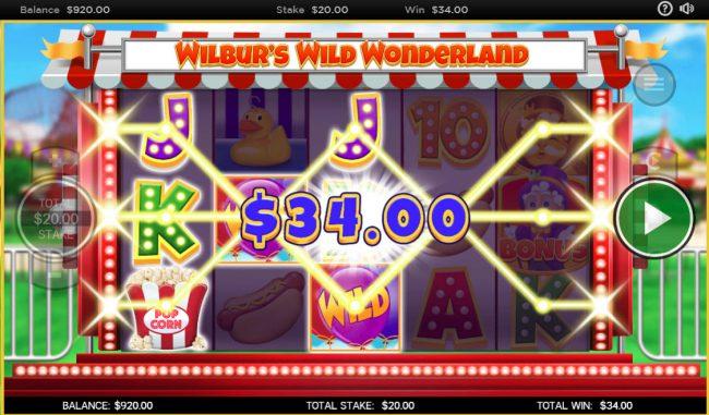 Wilbur's Wild Wonderland :: Multiple winning paylines